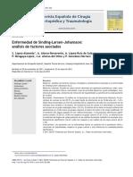 2012 Enfermedad de Sinding-Larsen-Johansson, análisis de factores asociados
