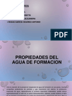 Propiedades Del Agua de Formacion
