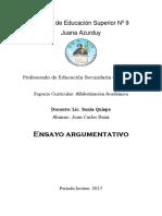 Alfabetizacion Academica en La Formacion Superior