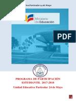 Programa de Participación Estudiantil 2017 Dhevfs2