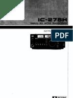 Icom IC-275H Instruction Manual