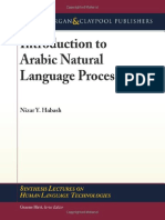 Introduction to Arabic Natural Language Processing