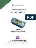 PETUNJUK PENGGUNAAN CURRENT METER JFE ALEC/ADVANTECH AEM213D