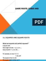 (7)CHAPTER 3 Squares, Square Roots, Cubes and Cube Roots