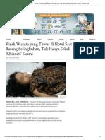 Kisah Wanita Yang Tewas Di Hotel Saat B... Sekali 'Khianati' Suami - Tribun Bali