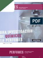 Informe de sustancias tóxicas en Perfumes By GreenPeace