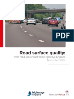 Road Surface Quality What Road Users Want From Highways England FINAL