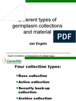 Different Collection Types and Germ Plasm Materials