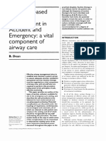 Evidence-based Suction Management in Accident and Emergency a Vital Component of Airway Care