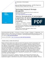 Callon Et Al - 1991 - Tools for the Evaluation of Technological Programmes