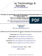 Callon - 1999 - The Role of Lay People in the Production and Dissemination of Scientific Knowledge.pdf