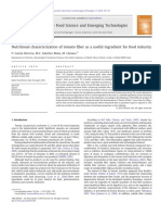 Nutritional Characterization of Tomato Fiber as a Useful Ingredient for Food Industry
