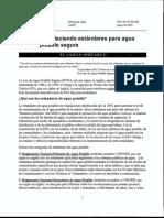 Estandares de Agua Potable (EPA) 2000