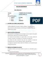 Msds Thinner Acrilico Anypsa
