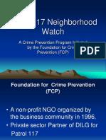 Patrol 117 Neighborhood Watch - A Primer