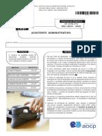 Instituto Aocp 2015 Ufpel Assistente Administrativo Prova