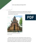 Klasifikasi Ornamen Bangunan Pura