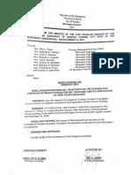 Barangay Resolution of No Objection