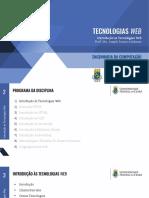 01 - Introdução Às Tecnologias Web