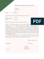 Surat Perjanjian Jasa Perantara Jual Beli Villa