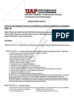 Materiales Por Practica Operatoria Dental