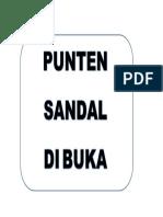 Sandal Buka