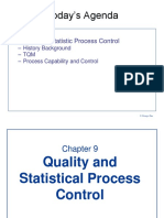 6 Quality and Statistical Process Control Chapter 9