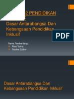 Pkpk3132 Pendidikan Inklusif Dasar Antarabangsa