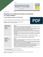 2010 Experiencia en la utilización de bisturí de ultrasonidos en cirugía ortopédica