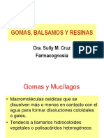 Gómas Balsamos y Resinas