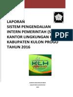 Laporan Spip Klh 2016