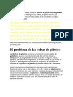 Bolsas de Plástico Infor