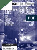 Bombardier ATV - Owners Manual