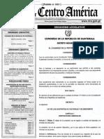 Decreto 1-2018 Ley de Factoraje Guatemala