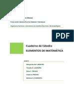 Cuaderno de Cátedra Elementos de Matemática 2018
