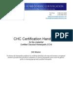 CHC Certification Handbook