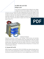 4 Steps to Convert 230V AC to 5V DC