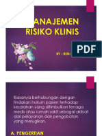 MANAJEMEN RISIKO KLINIS
