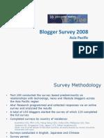 Text100 Blogger Survey 2008