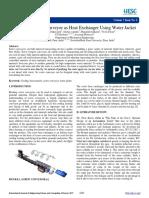 Design of Screw Conveyor as Heat Exchanger Using Water Jacket