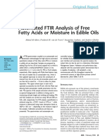 Automated Analysis of FFA or Moisture by FTIR