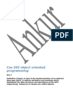 Cse 202 Object Oriented Programming