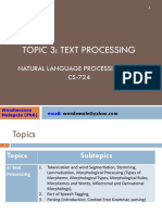 CS724 NLP Topic 3-Text Processing