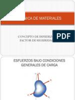 1.3 Esfuerzos Bajo Condiciones Generales de Carga y Factor de Seguridad