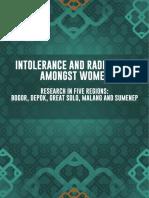Intolerance & Radicalism Amongst Women