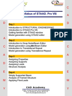 Staad.pro Syllabus Final