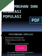 Pertumbuhan Dan Regulasi Populasi