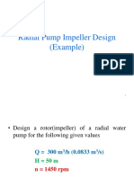 Radial Pump Impeller Design Example