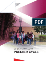 Guide 1ercycle 2015