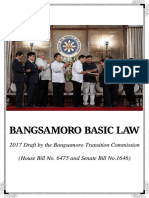 The Draft Bangsamoro Basic Law (BBL) 2017